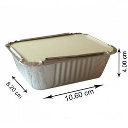 No2 Aluminium Container Avec Couvercle 1000 pièces