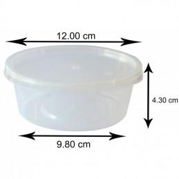 10 Oz Plastic Boite Avec Couvercle (300 ml) x 250 pièces