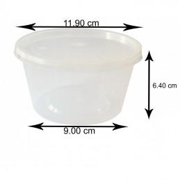 16Oz Plastic Boite Avec Couvercle (500 ml) x 250 pièces